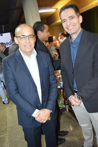 Roberto Maia, gerente da usina Usiminas, e Paulo Novaes, diretor da Aperam