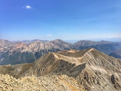 Looking north from the Huron Peak summit