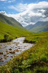 Etive river and valley, Scotland