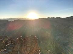 Dawn at the northeast ridge