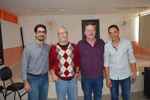 Rodlon, Bigode, o prefeito de Periquito, Geraldo Godoy, e Éderson