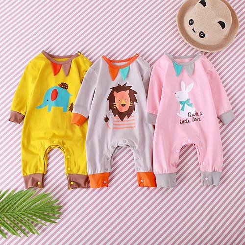 kiskissing wholesaleclothing babyfashion babyonesies babyromper babyjumpsuit elephantprint lionprint rabbitprint