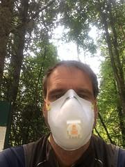Radeln mit der Maske macht nicht so Spass!