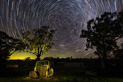 Time passes under colourful stars