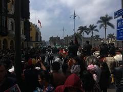 Prozession zur Ehren der Santa de Rosa in Lima