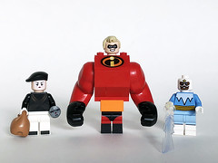 Bomb Voyage, Mr. Incredibly Swole, and Frozone
