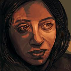Woman, digital painting, 2018