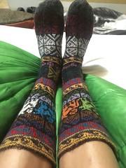 Alpaka-Socken:-) sind schön warm!