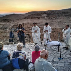 Mass in the desert with a group from Rovigo