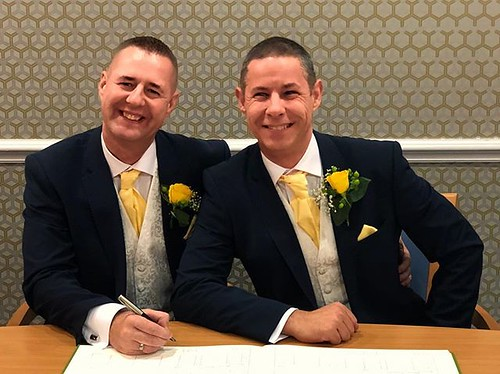 Today is all about...Bill and Carl's wedding