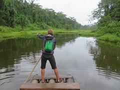Flossfahrt auf dem Cocha Machuwasi