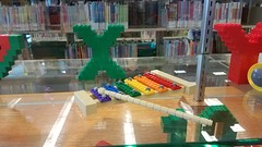 KC Brick Lab Letters and Numbers for Smithville Mid-Continent Library back to school Display