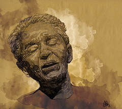 Chavela Vargas, digital painting, 2018