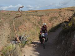Cooler Singletrail zu den Salzterassen von Maras