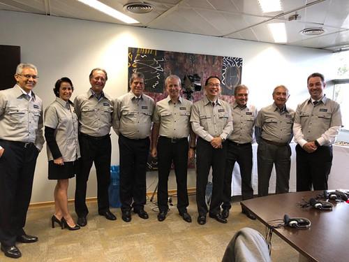 Conselheiros uniformizados