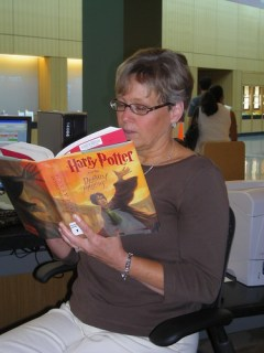 Reading the new Harry Potter! (21/365)