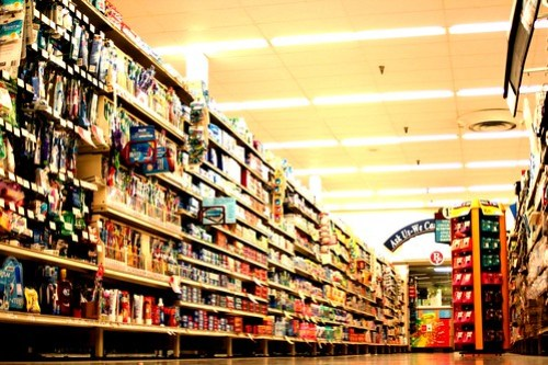 Overwhelming grocery store
