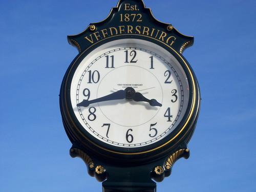 Veedersburg, Indiana Town Clock by cjp02