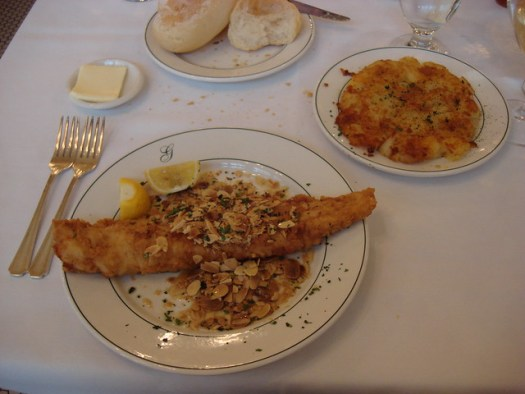 Poisson Meuniere Amandine, Galatoire's, New Orleans LA