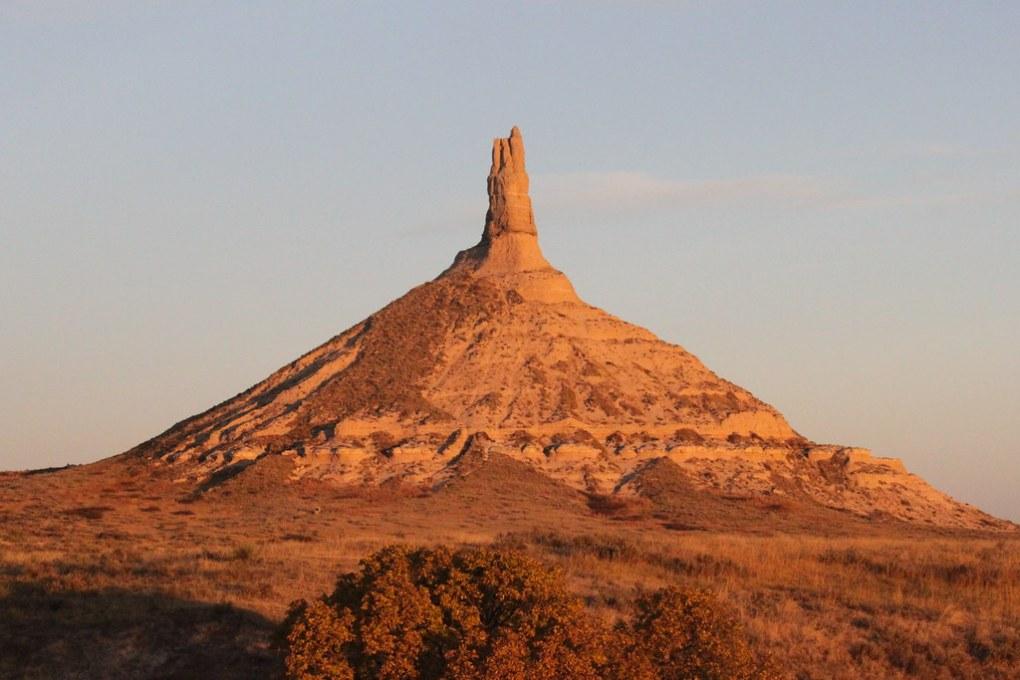 Chimney Rock (near Scottsbluff, Nebraska) at sunrise