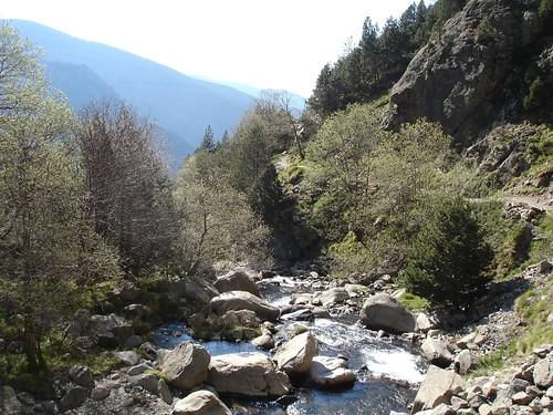 Pujant a la Vall de Núria