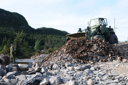 Construction of access road