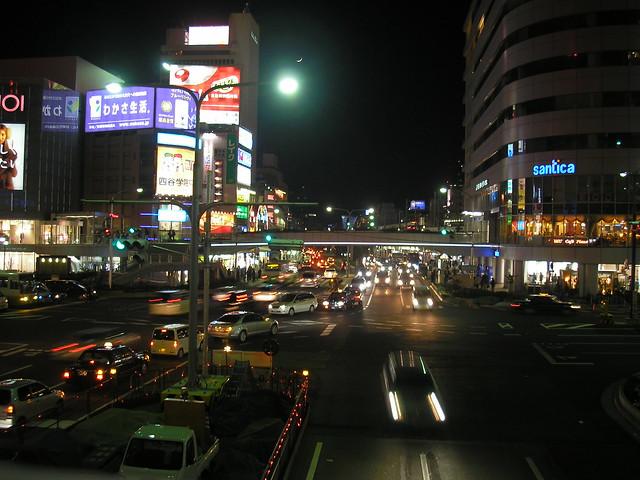 Kobe at night, 30th December 2008