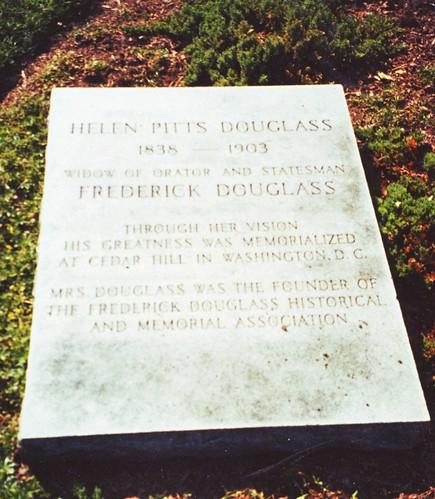 Grave of Helen Pitts Douglass