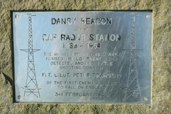 Danby Beacon Radar Station Plaque