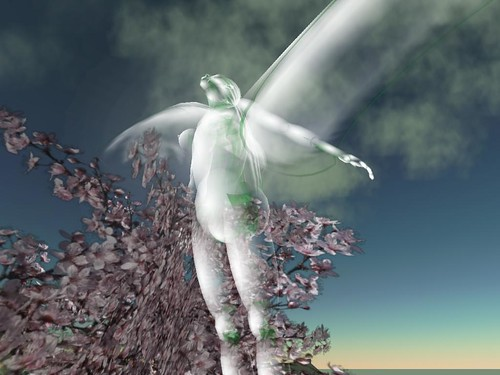 Second Life: Relay for Life 2007: Angel in the Cherry Blossoms