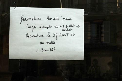 Paris, August