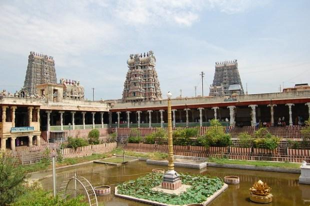 Meenakshi temple gopurams
