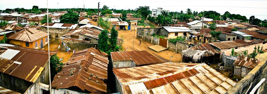 Die Dächer von Ouidah