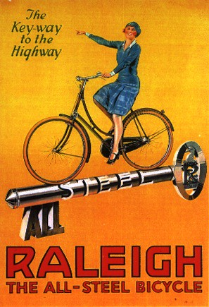 Vintage Raleigh Cycle Poster - Key