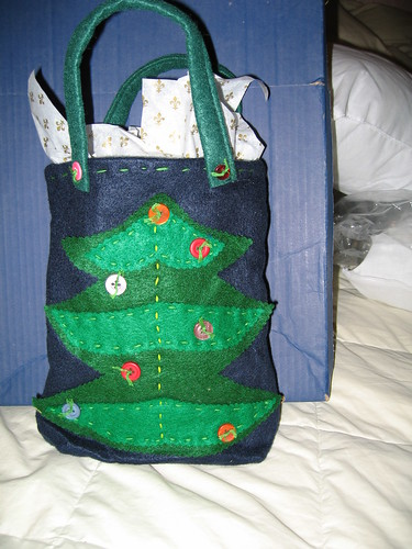 Christmas tree gift bag