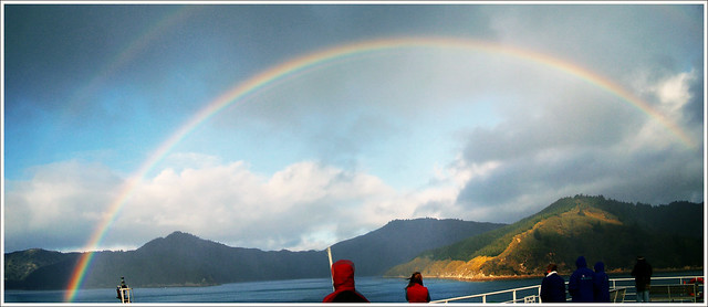 Rainbow in the Marlborough Sounds New Zealand