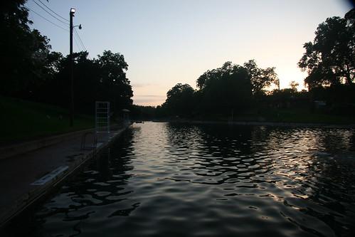 Barton Springs at Sunset