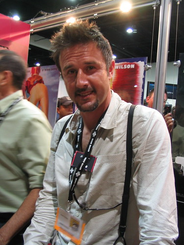 David Arquette mugging for me