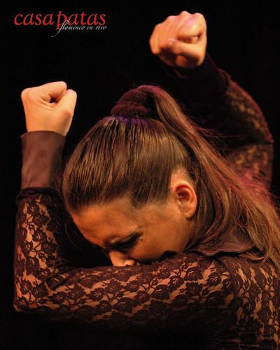 Paloma Fantova bailando en Casa Patas. Foto: Martín Guerrero
