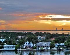 Sunset in Miami Beach