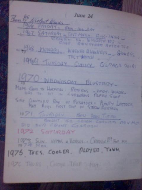 Pop's diary