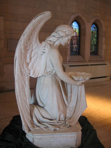 angel statue in Christ Church Cathedral