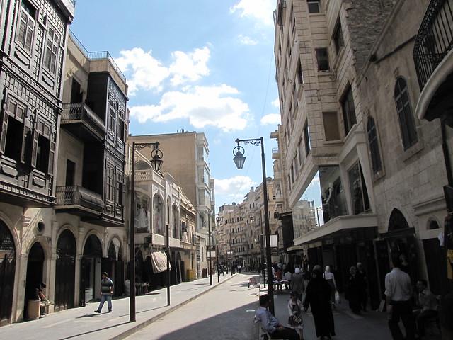 on Aleppo Streets, Syria
