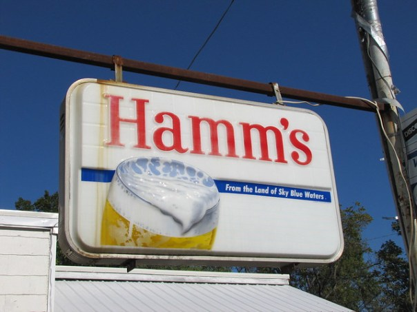 Hamm's Beer sign - Pleasanton, Kansas U.S.A. - September 5, 2010