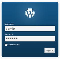 Connexion au backoffice WordPress (v2.3, 2008)