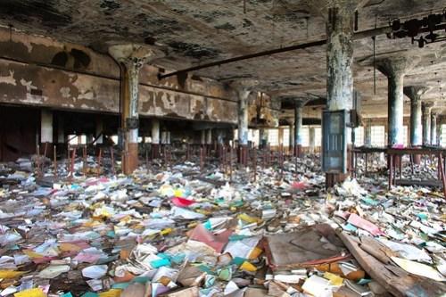 Detroit Public Schools Book Depository - Abandonado desde el incendio de que se incendió en 1987