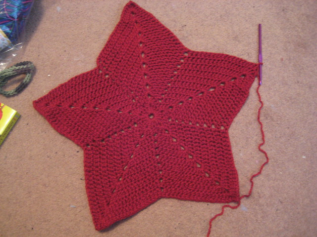 star blanket -progress