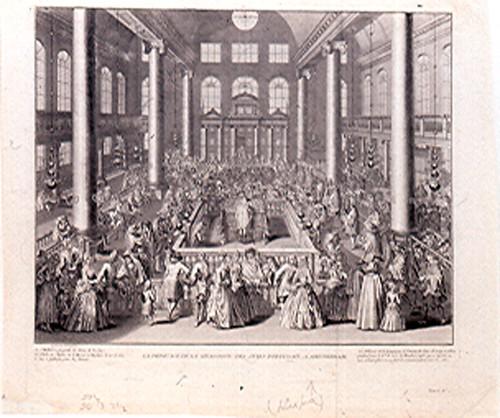 Engraving [75.22]: Bernard Picart, La Dédicace de la synagogue des Juifs Portugais à Amsterdam,  (Holland, ca. 1730)