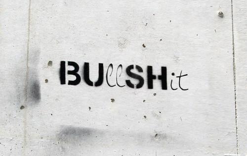 Bu(ll)sh(it) Stencil in Almada