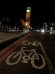 end of bike lane